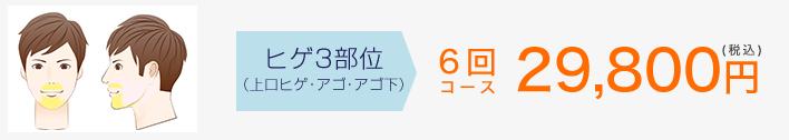 ヒゲ6回24,800円